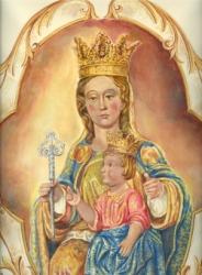 La Virgen de la Victoria-pintura de Sor Natividad Dávoli