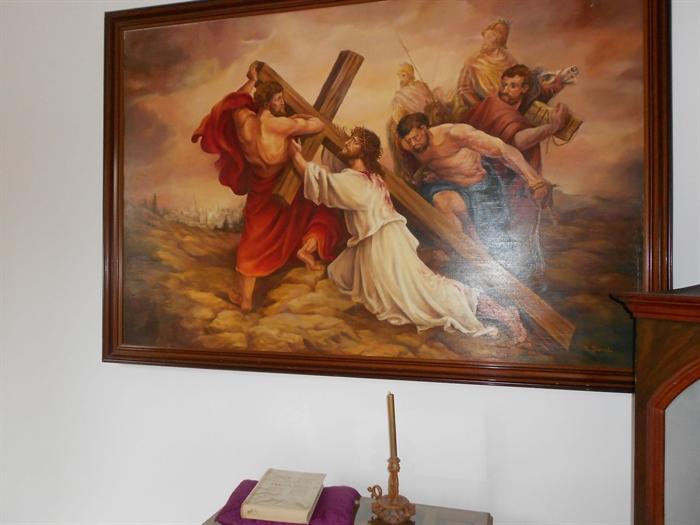 Pintura al óleo de sor Natividad Dávoli, Monjas Mínimas de Daimiel