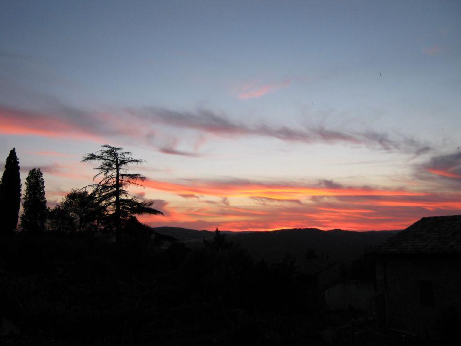 Atardecer desde el Monasterio-Todi