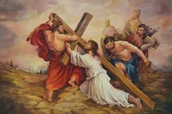 Jesús con la Cruz-Sor Natividad Dávoli, OM