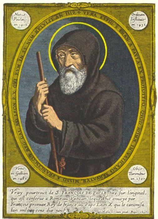 Jean Bourdichon (ca 1457-1521): Den hellige Frans av Paola (1507)
