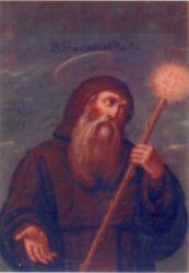 Pintura al óleo -pechina de la iglesia Mínimas de Daimiel