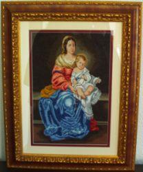 Virgen del Rosario a punto de cruz