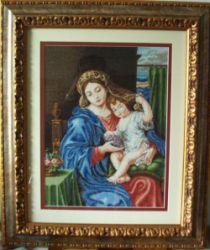 Virgen de las uvas a punto de cruz